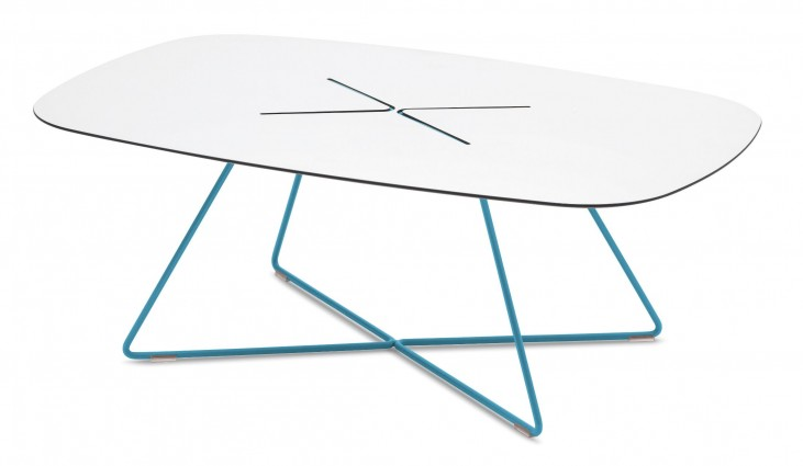 Cross Turquoise Rectangular Coffee Table