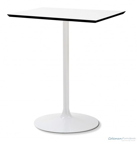 Crown White Square table