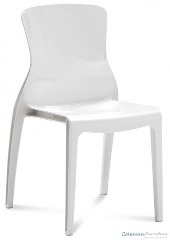 Crystal White Side Chair Set of 4