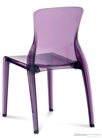 Crystal Transparent Purple Side Chair Set of 4