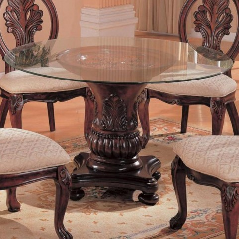 Tabitha Round Glass Dining Table