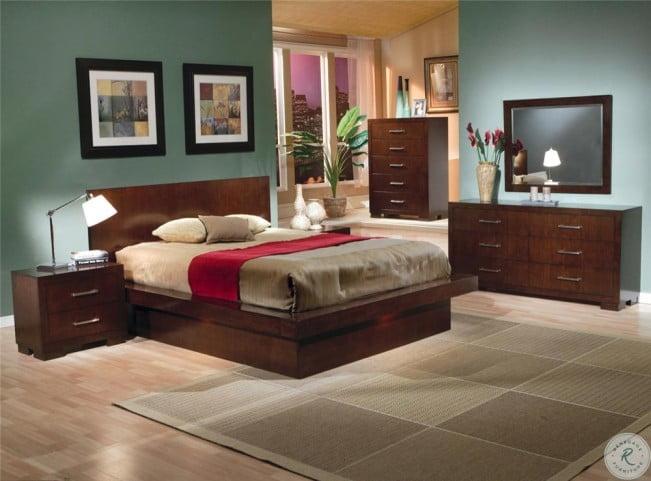 Jessica Cappuccino Platform Bedroom Set