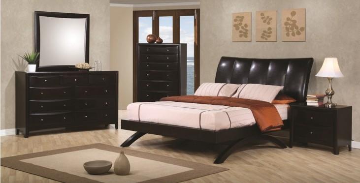 Phoenix Upholstered Platform Bedroom Set - 300356