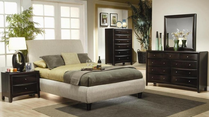 Phoenix Fabric Platform Bedroom Set - 300369