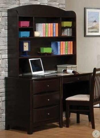 Phoenix Hutch for Computer Desk Cappuccino