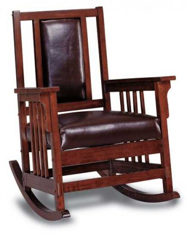 Dark Oak Leather Recliner Chair - 600058
