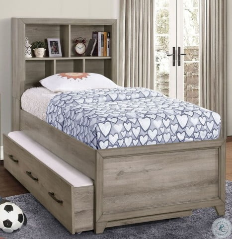 River Creek Birch Brown Full Bookcase Bed With Trundle