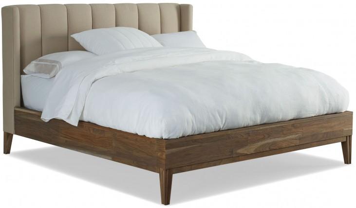 Crawford Sepia Cal. King Upholstered Platform Bed
