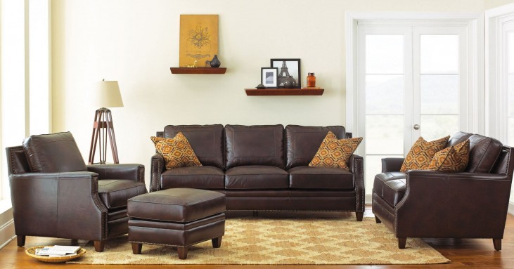 Caldwell Leather Living Room Set