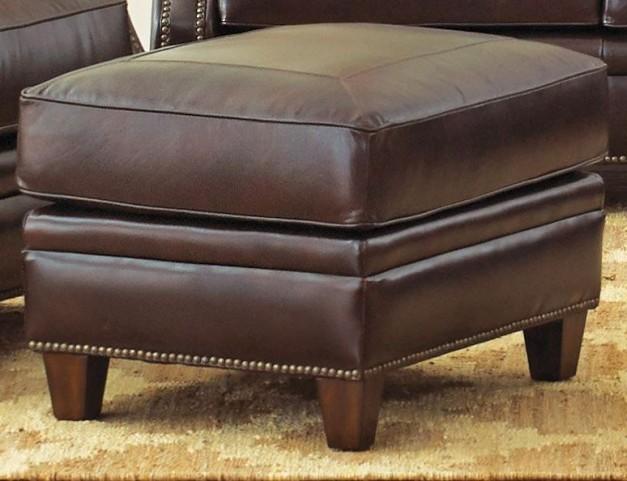 Caldwell Leather Ottoman