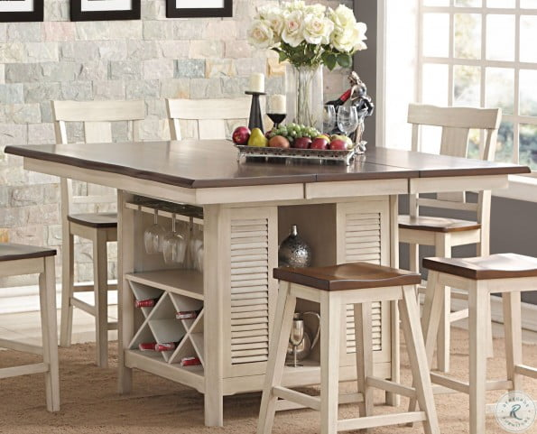Heather Two Tone Island Table From New Classic Coleman Furniture