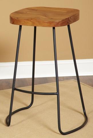 """Simplicity Natural Mango 30"""" Backless Barstool"""