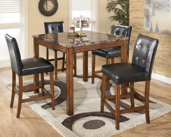 Theo Brown 5 Piece Counter Height Dining Set