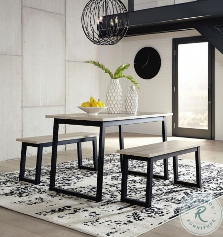 Waylowe Two Tone 3 Piece Dining Table Set