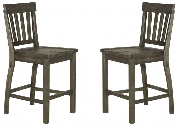 Bellamy Deep Weathered Pine Counter Stool Set Of 2