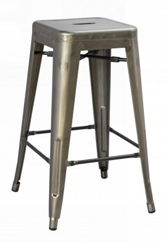 Stovall Industrial Gun Metal Dining Stool Set of 4