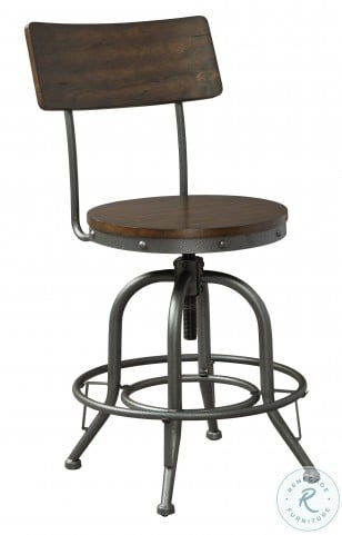 Odium Brown Adjustable Counter Height Stool Set Of 2