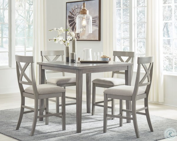 Parellen Gray Counter Height Dining Room Set From Ashley Homegallerystore Com D291 13