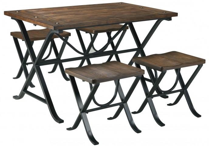 Freimore 5 Piece Rectangular Dining Room Table Set