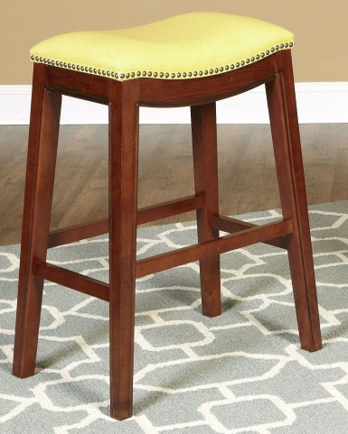 "Fiesta Yellow 30"" Backless Barstool"