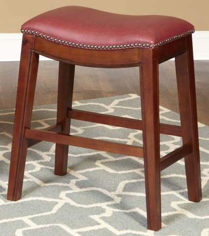 """Fiesta Red 24"""" Backless Counter Stool"""