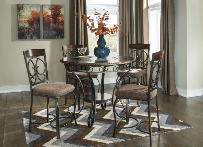 Glambrey Round Counter Height Dining Room Set