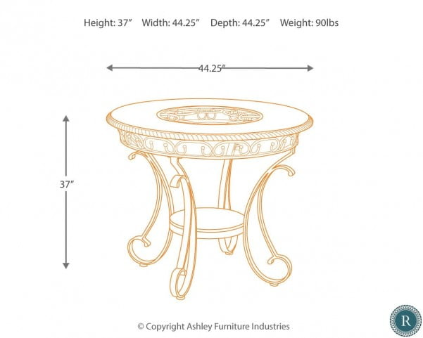 Glambrey Round Dining Room Counter Height Dining Table