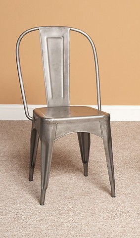 Timbuktu Brushed Steel Side Chair Set of 2