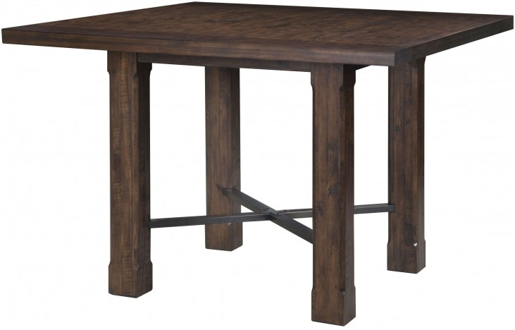 Pine Hill Rustic Pine Square Counter Dining Table
