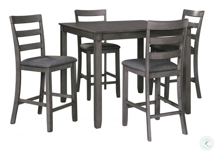 Enjoyable Bridson Gray 5 Piece Counter Height Dining Room Set Home Interior And Landscaping Ponolsignezvosmurscom