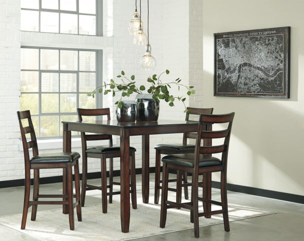 Coviar Brown 5 Piece Counter Height Dining Room Set