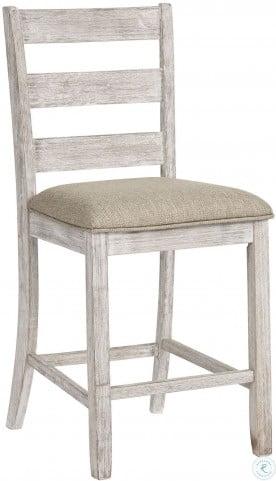 Skempton White And Light Brown Upholstered Bar Stool Set Of 2