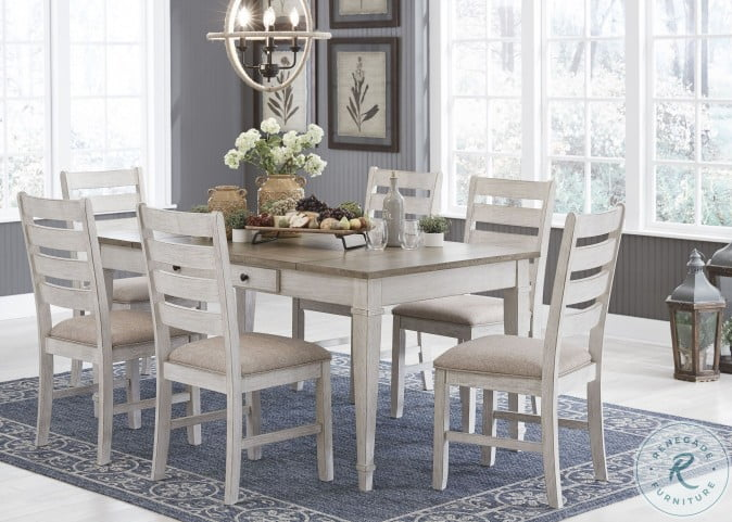 Skempton White and Light Brown Dining Room Set from Ashley ...