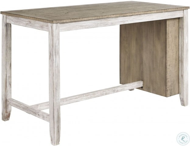 Skempton White And Light Brown Counter Height Table