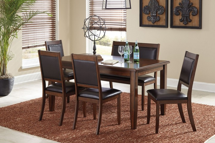 Meredy Brown 6 Piece Dining Room Set