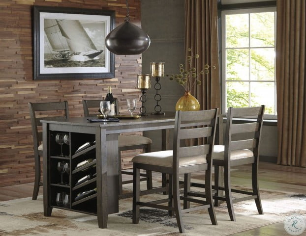 Rokane Light Brown Rectangular Counter Height Dining Room Set From Ashley Homegallerystore Com D397 32