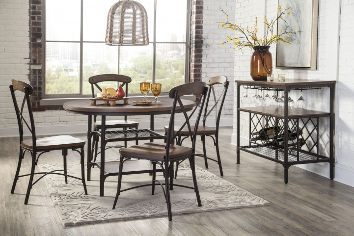 Rolena Brown Round Dining Room Set