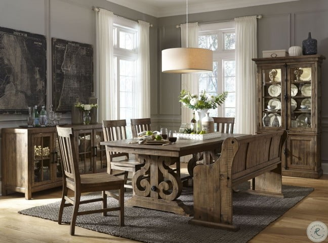 Willoughby Weathered Barley Extendable Dining Room Set From Magnussen Home Coleman Furniture