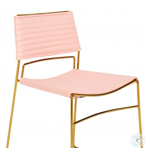 Domani Blush Vegan Chair Set of 2