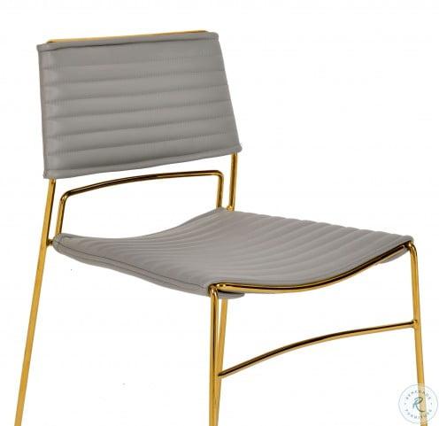 Domani Grey Vegan Chair Set of 2