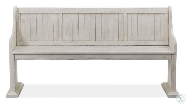 Bronwyn Chalk White Bench