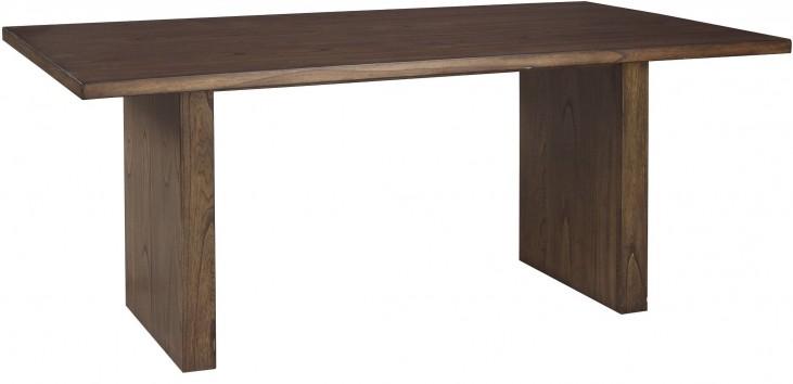 Zilmar Brown Rectangular Dining Table