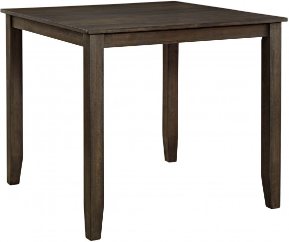 Dresbar Grayish Brown Square Counter Height Dining Table