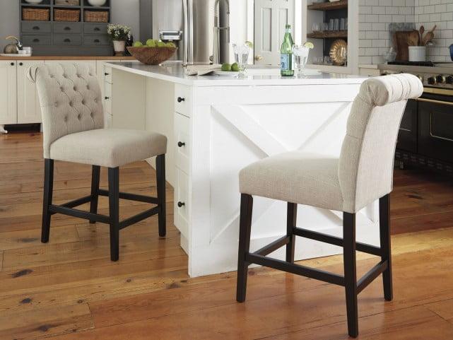 Tripton Linen Upholstered Bar Stool Set of 2