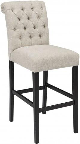 Tripton Linen Tall Upholstered Bar Stool Set of 2