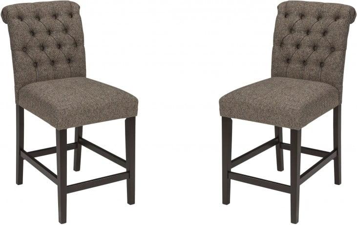 Tripton Graphite Upholstered Bar Stool Set of 2