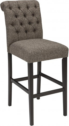 Tripton Graphite Tall Upholstered Bar Stool Set of 2