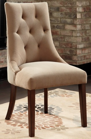 Mestler Light Brown Upholstered Side Chair Set of 2