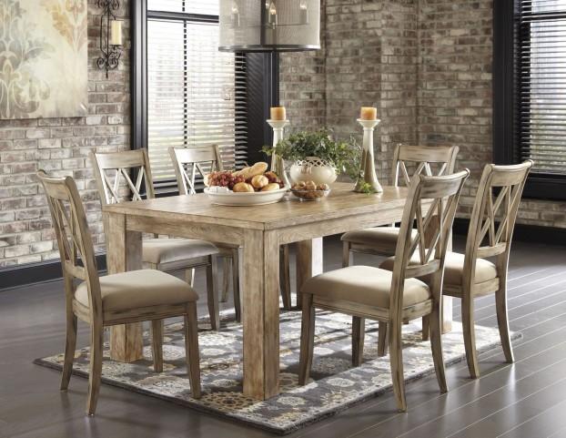 Mestler Driftwood Extendable Dining Room Set