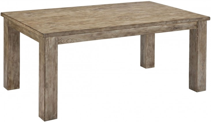 Mestler Driftwood Rectangular Dining Room Table
